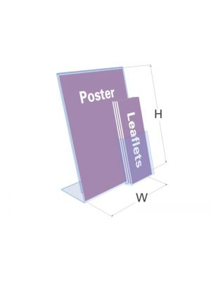 A4 Landscape With 1/3 A4 Holder Single Sided Poster Holder