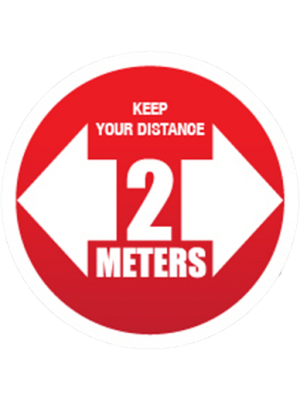 Social Distancing sticker – keep 2 meters apart